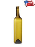Bennu Glass Tall Straight Claret/Bordeaux wine bottle - BX576
