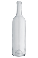 Standard Claret/Bordeaux wine bottle, Flint - SPI-1003 FL