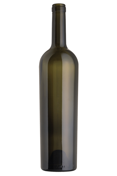Tall Reverse Taper Claret/Bordeaux wine bottle, Antique Green - SPI-1506 AG